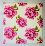 Ceramic Wall Tiles Made With Tilda Peony in White
